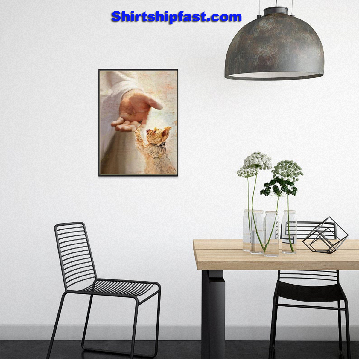 Yorkshire Terrier take my hand canvas - Picture 1