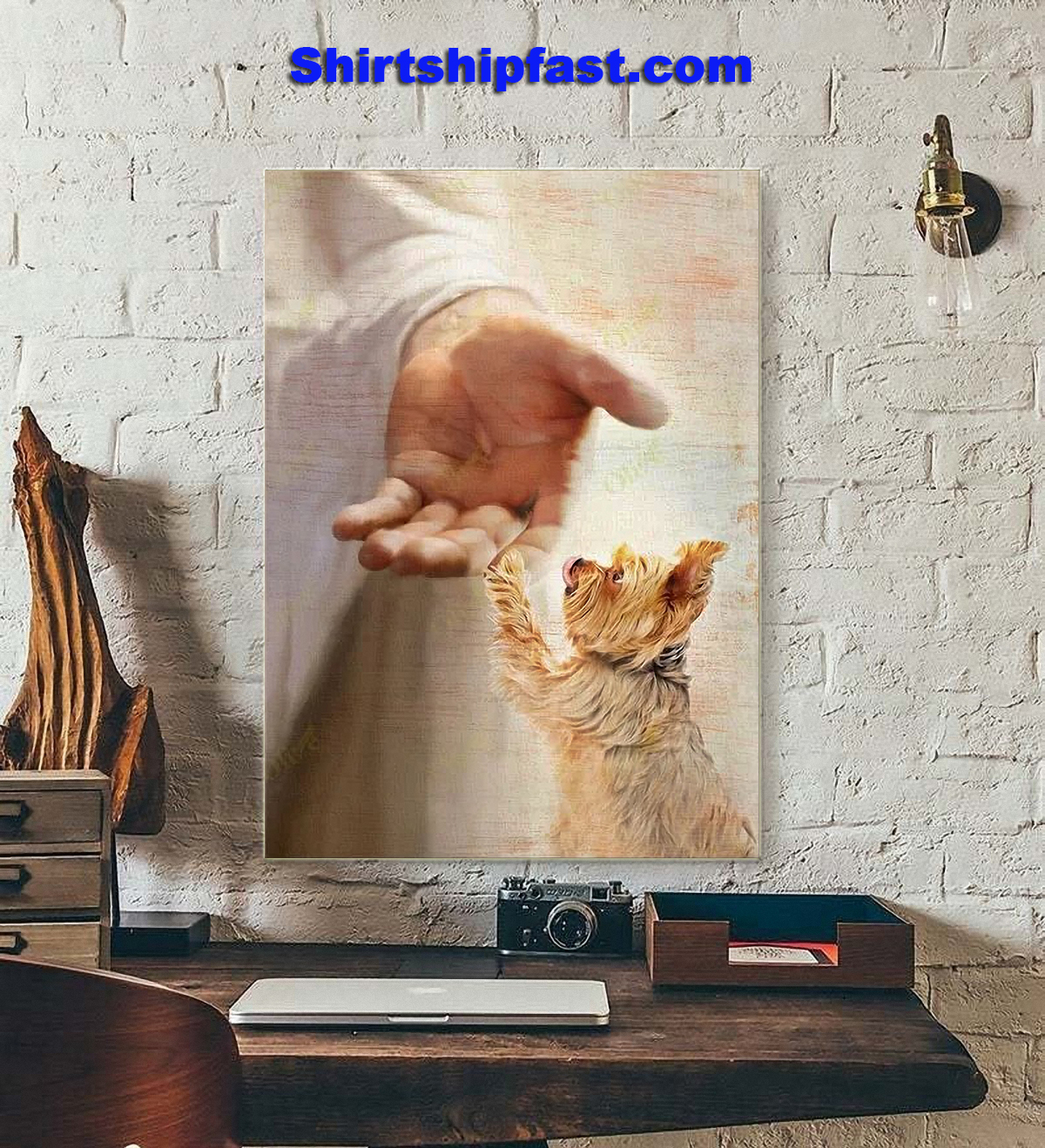 Yorkshire Terrier take my hand canvas - Picture 3