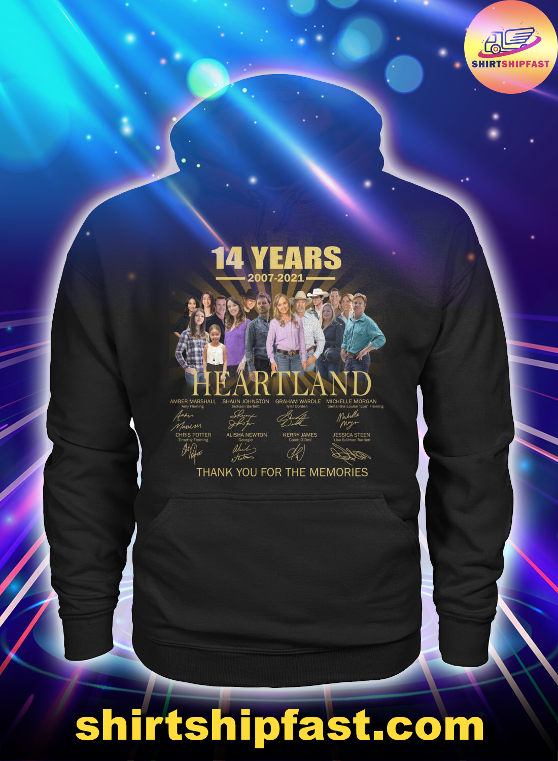 14 years Heartland signature thank you for the memories hoodie
