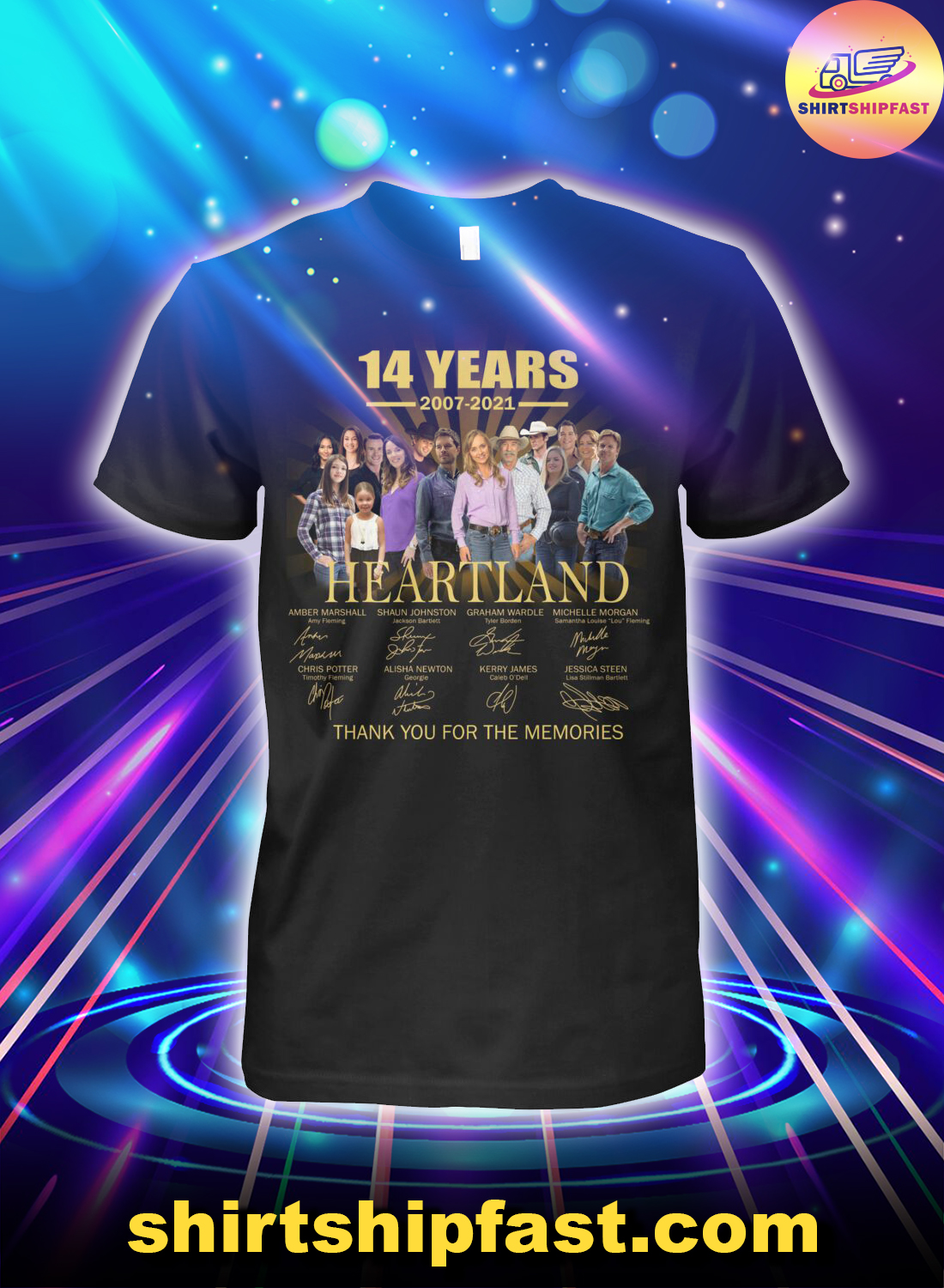 14 years Heartland signature thank you for the memories shirt