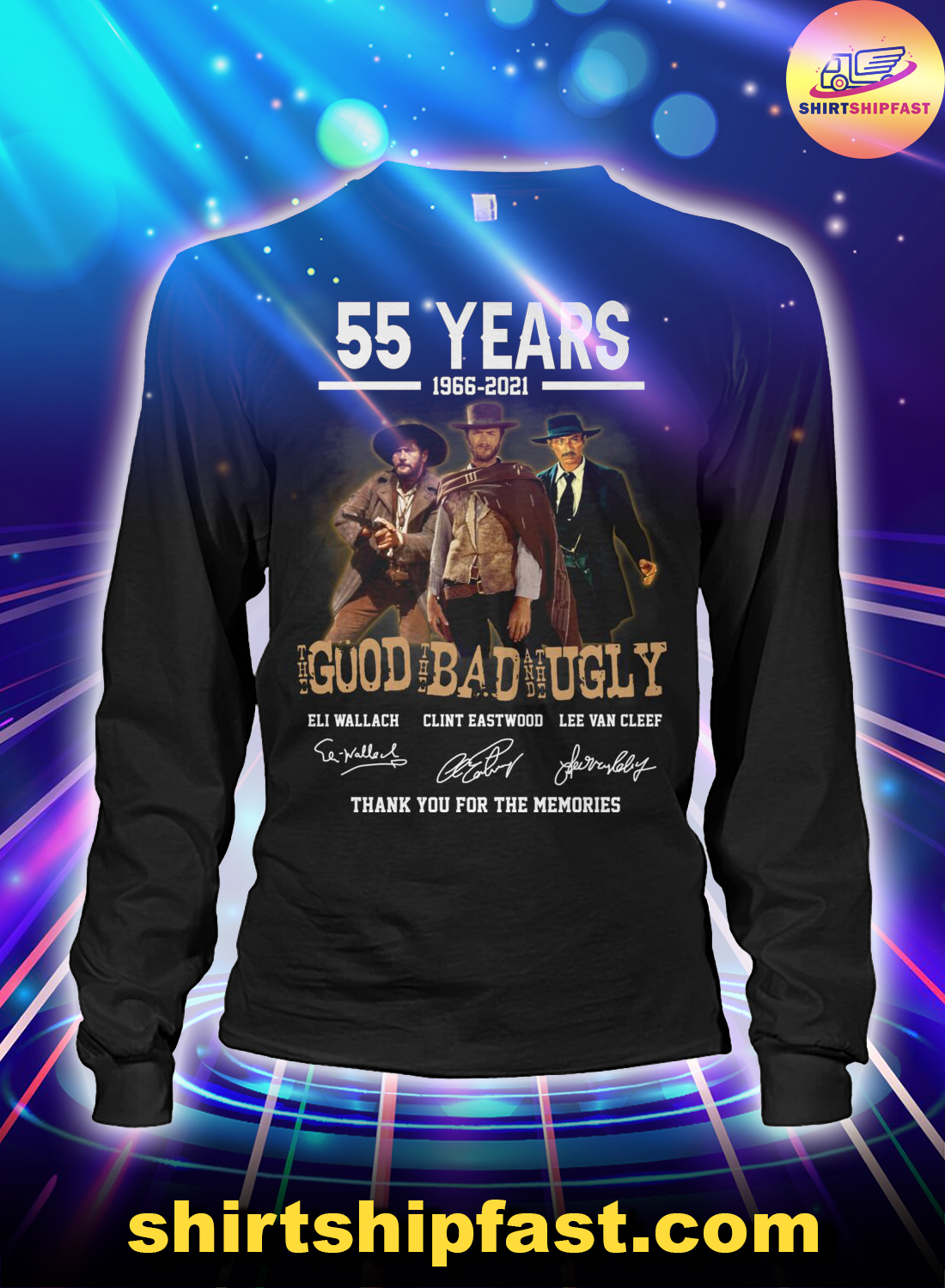 55 years the good the bad and the ugly signature long sleeve tee