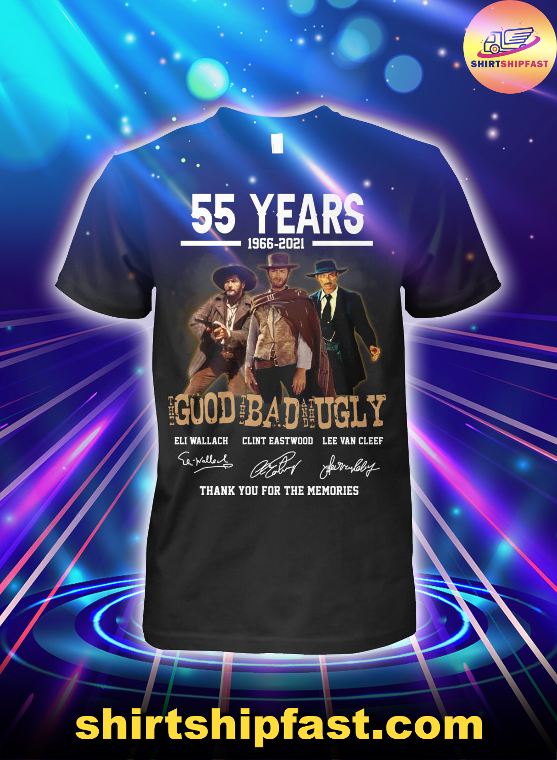 55 years the good the bad and the ugly signature shirt