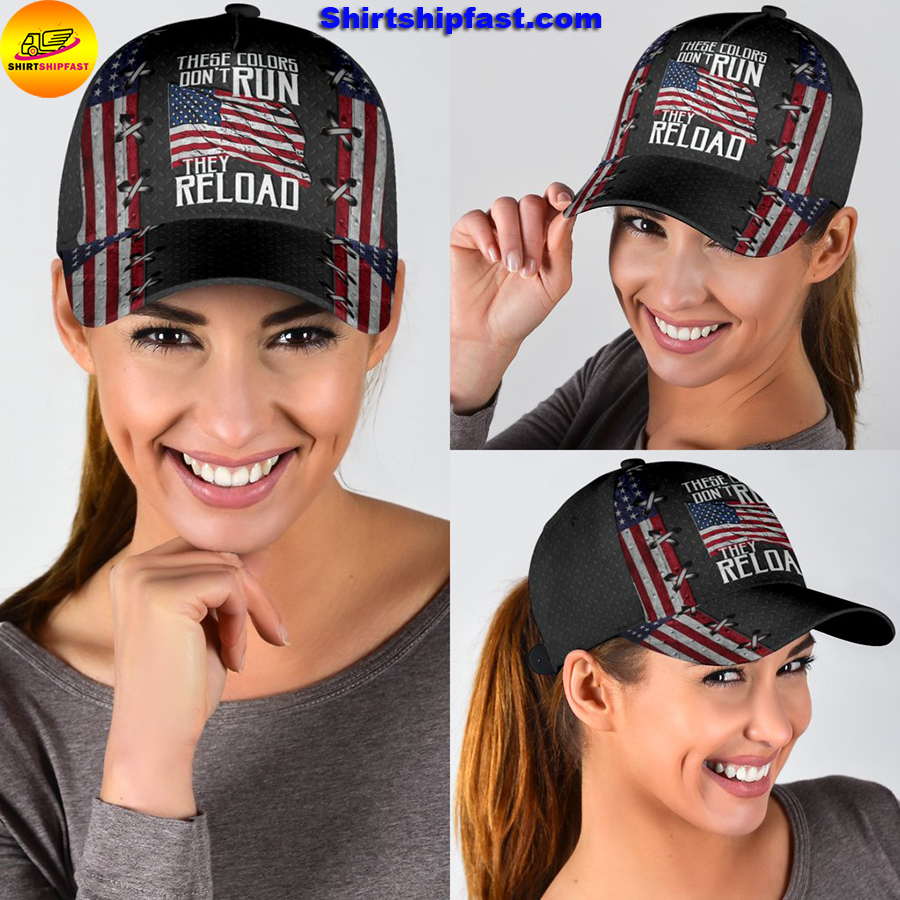 America these colors don't run they reload classic cap - Picture 1