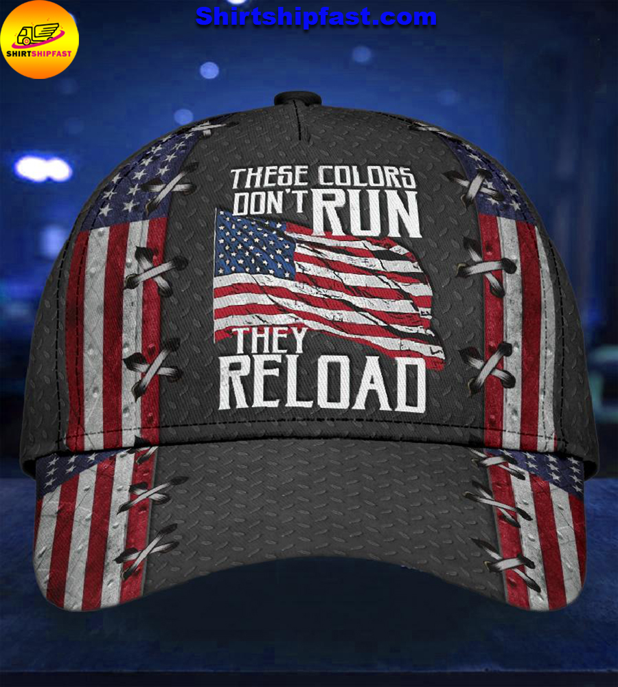 America these colors don't run they reload classic cap - Picture 2