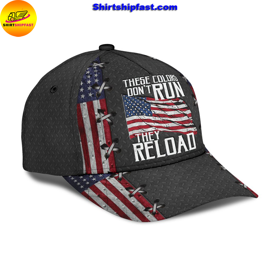 America these colors don't run they reload classic cap - Picture 3