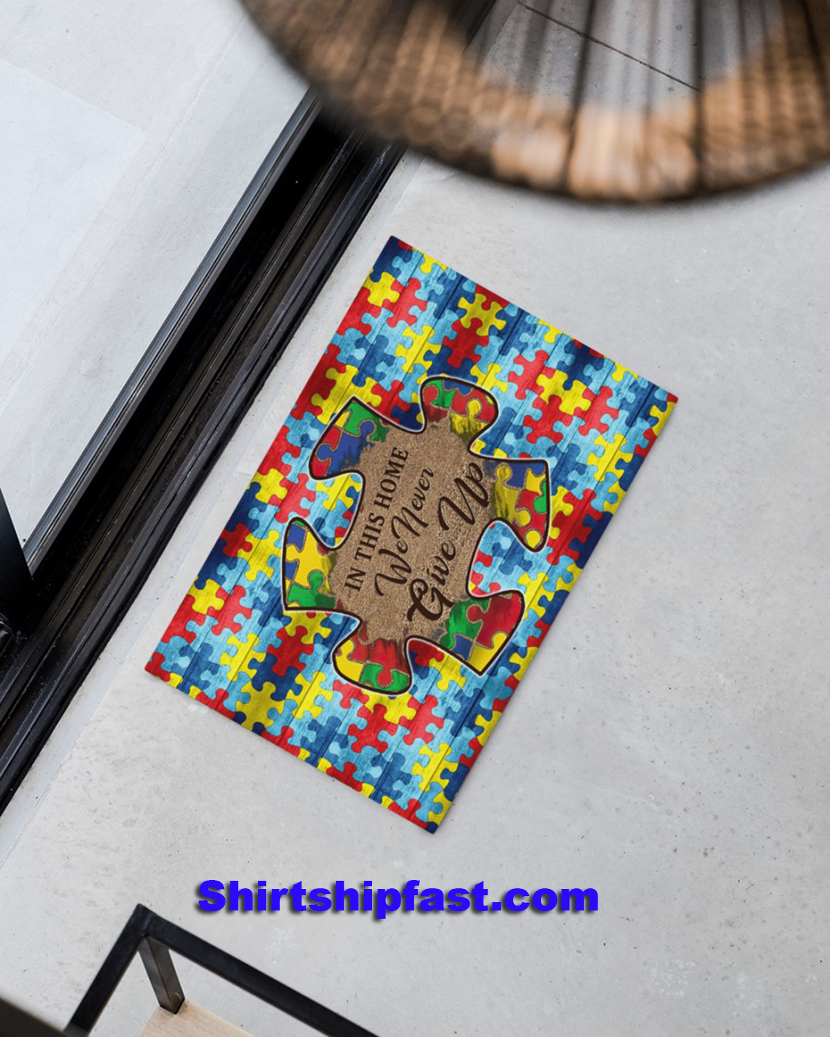 Autism In this home we never give up doormat - Picture 3