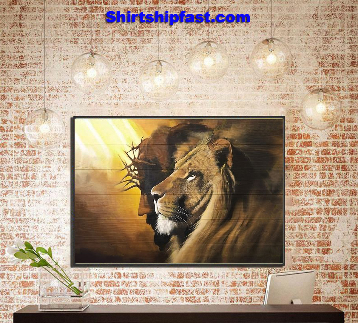 Awesome lion and god canvas prints - Picture 1