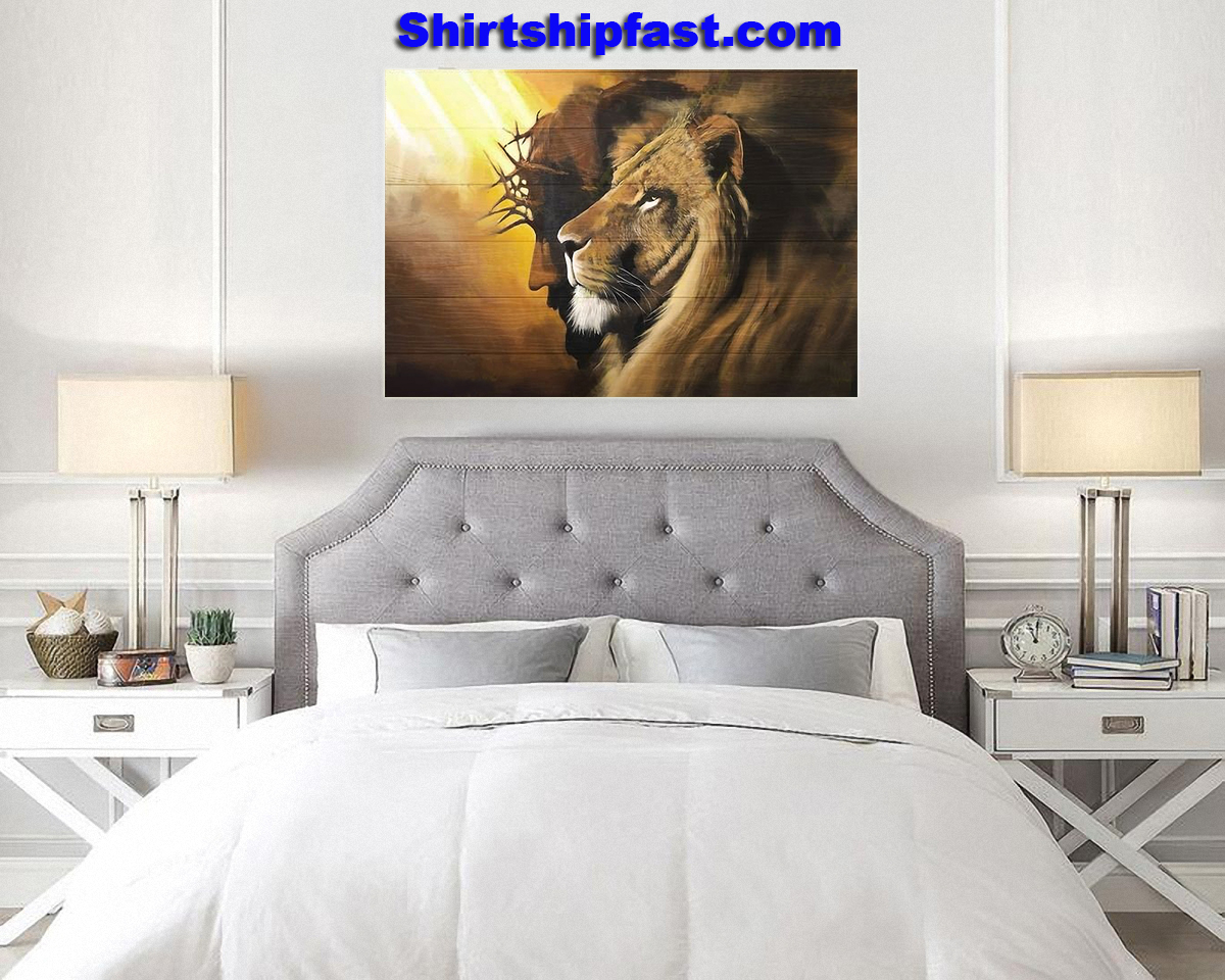 Awesome lion and god canvas prints - Picture 2