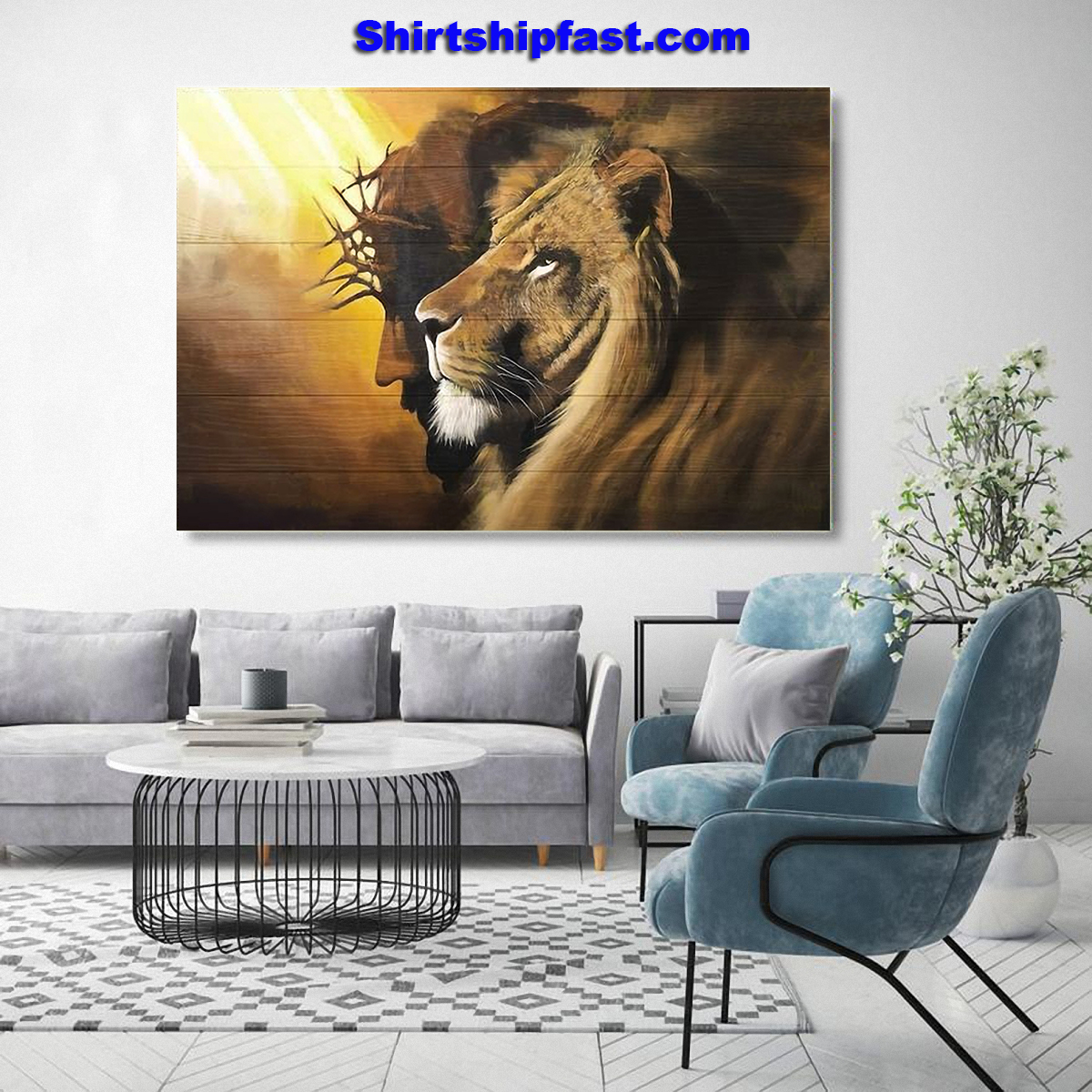 Awesome lion and god canvas prints - Picture 3