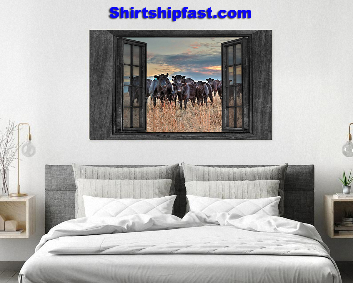 Cows by the window canvas prints - Picture 2