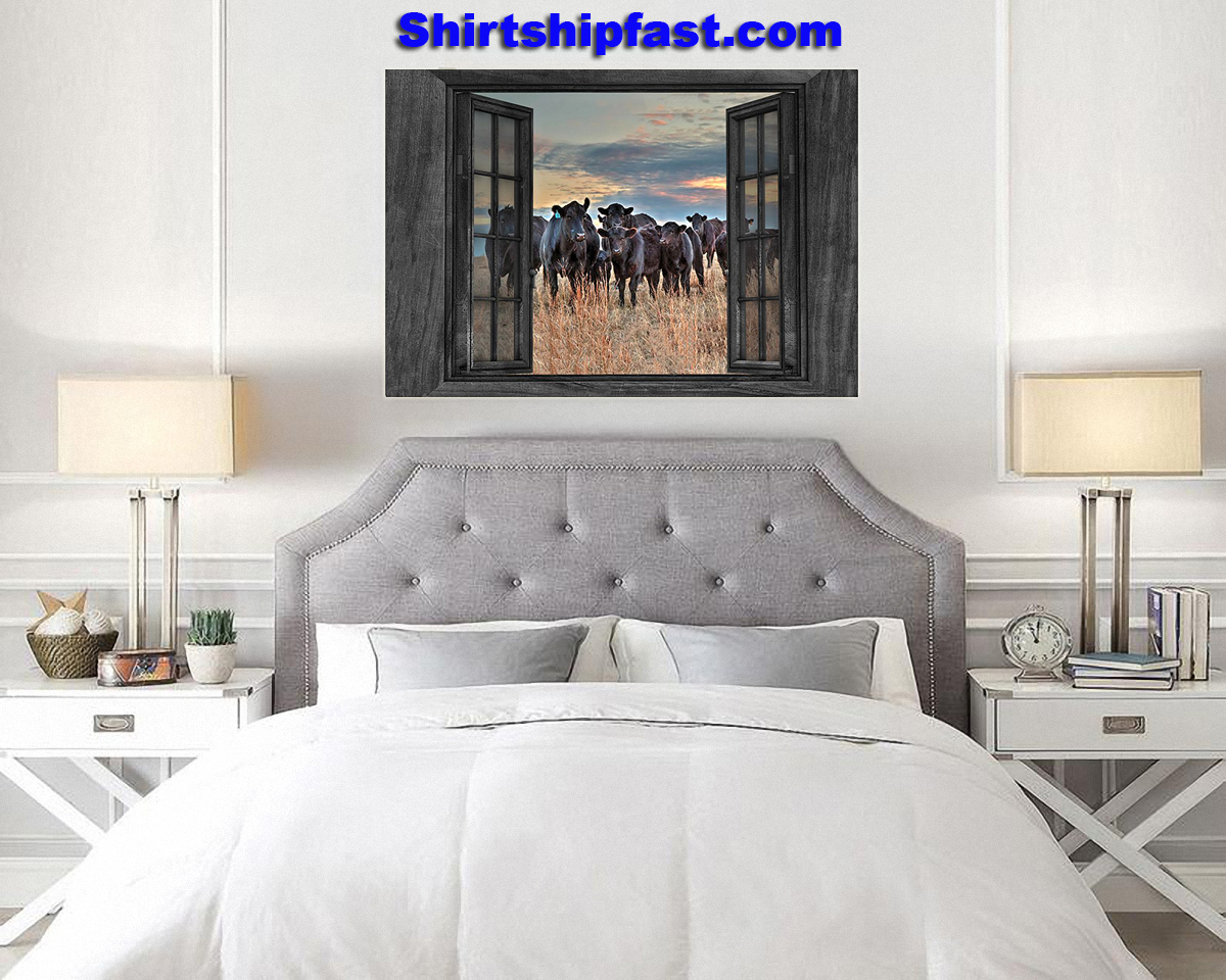 Cows by the window canvas prints - Picture 3