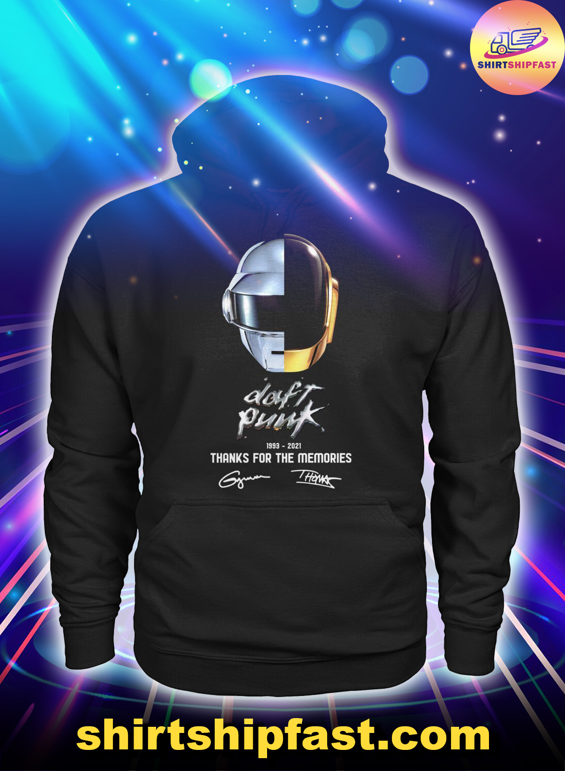 Daft Punk signature thanks for the memories hoodie