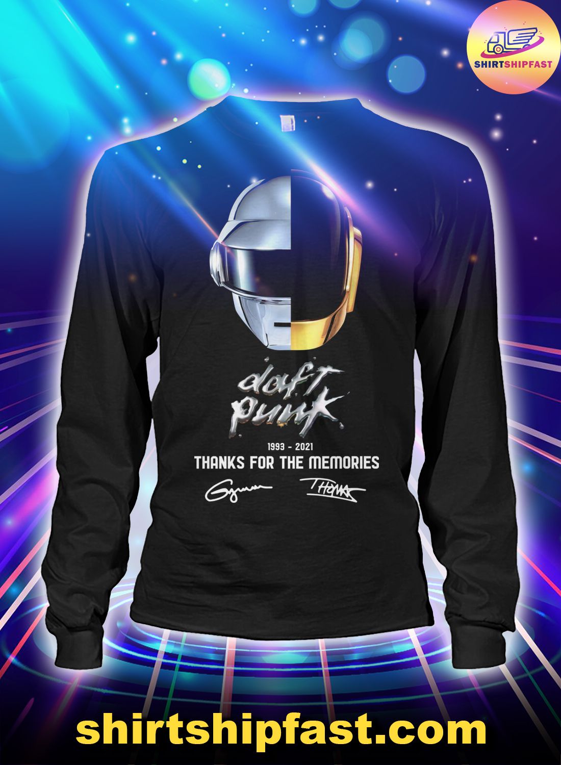 Daft Punk signature thanks for the memories long sleeve tee