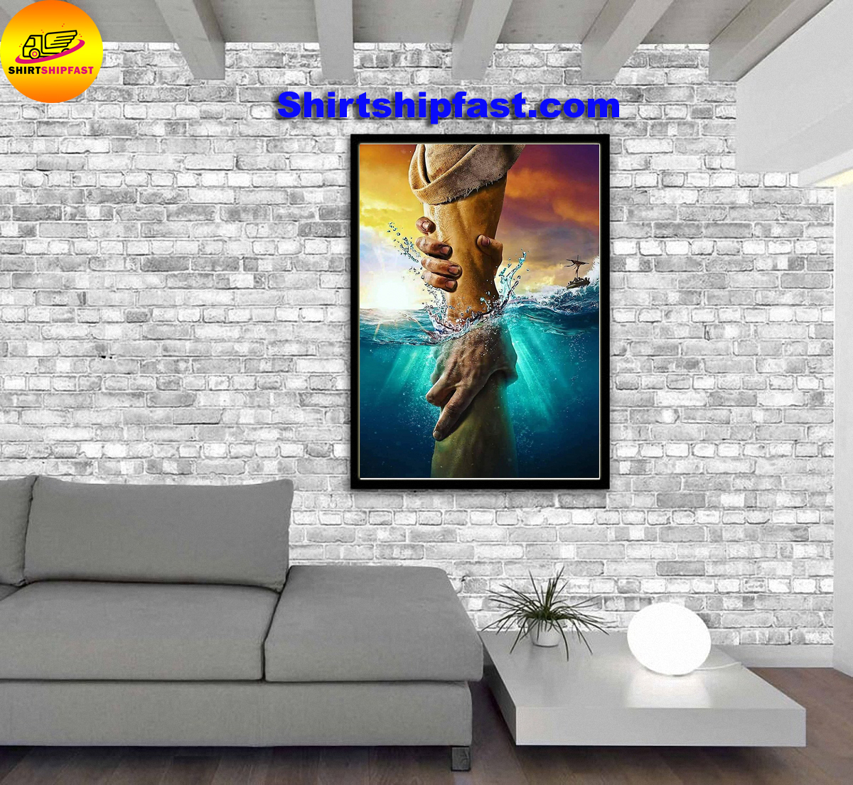 Don't be afraid just have faith jesus poster
