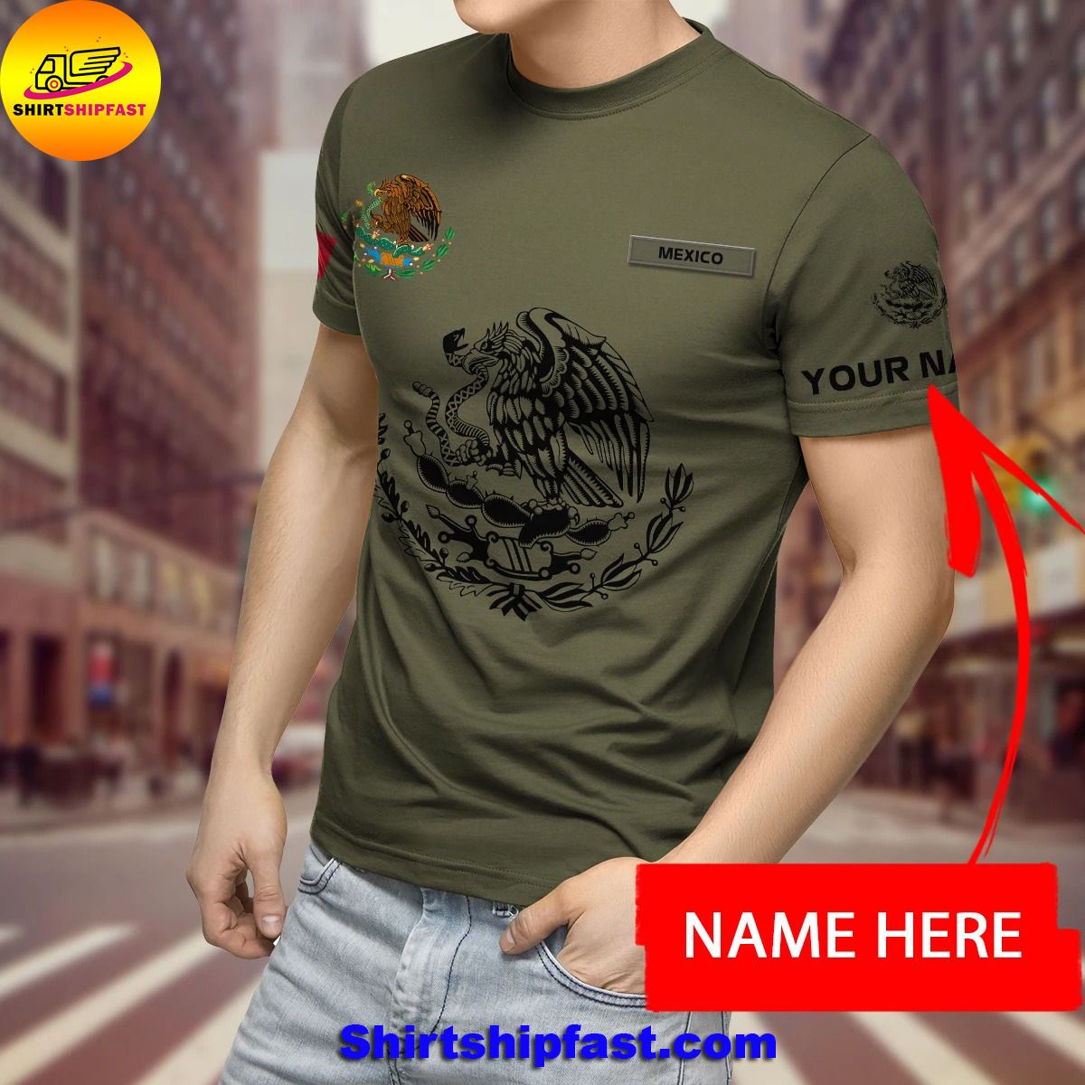 Eagle mexican customize all over printed t-shirt and hoodie