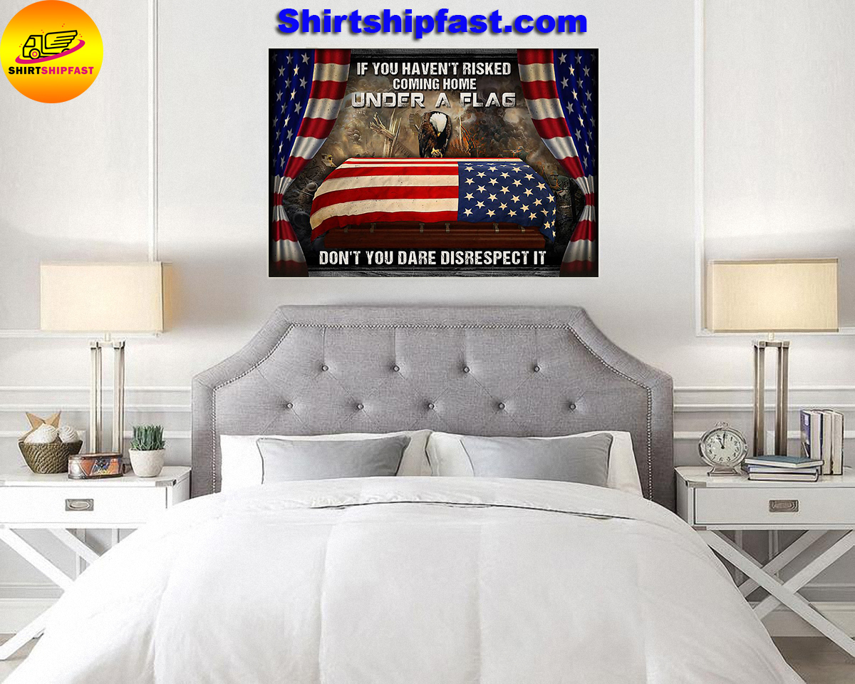 Eagle veteran under a flag poster - Picture 3