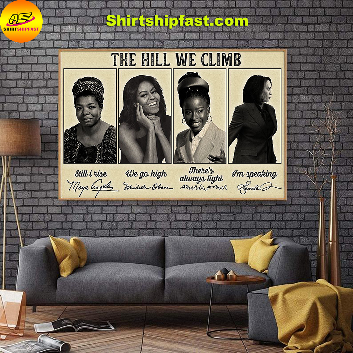 Famous feminist The hill we climb poster - Picture 1