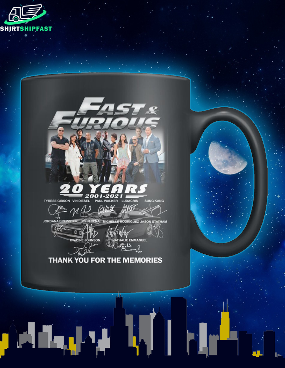 Fast and furious actors signature thank you for the memories mug - Picture 1