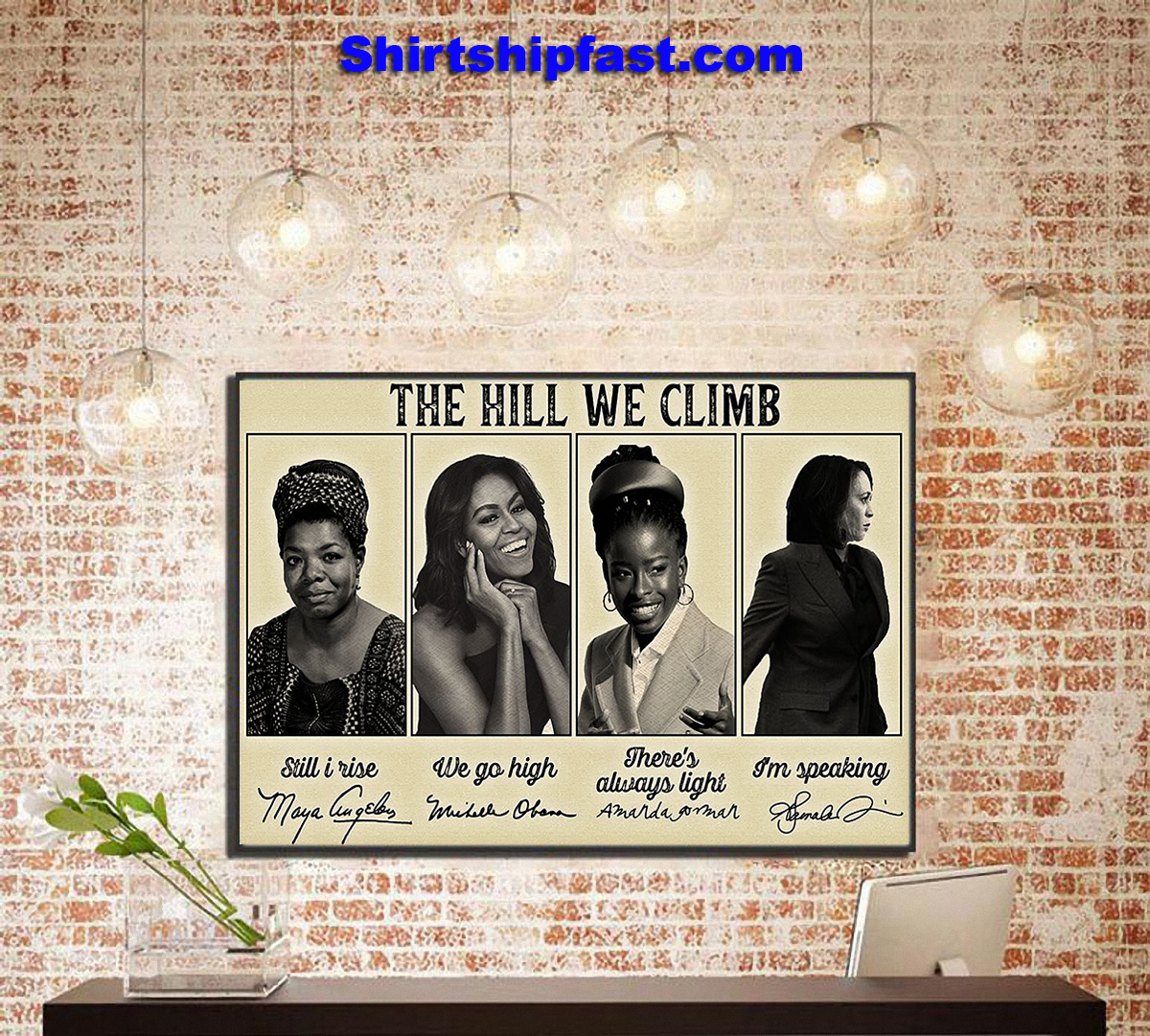 Feminists signature The hill we climb poster - Picture 2