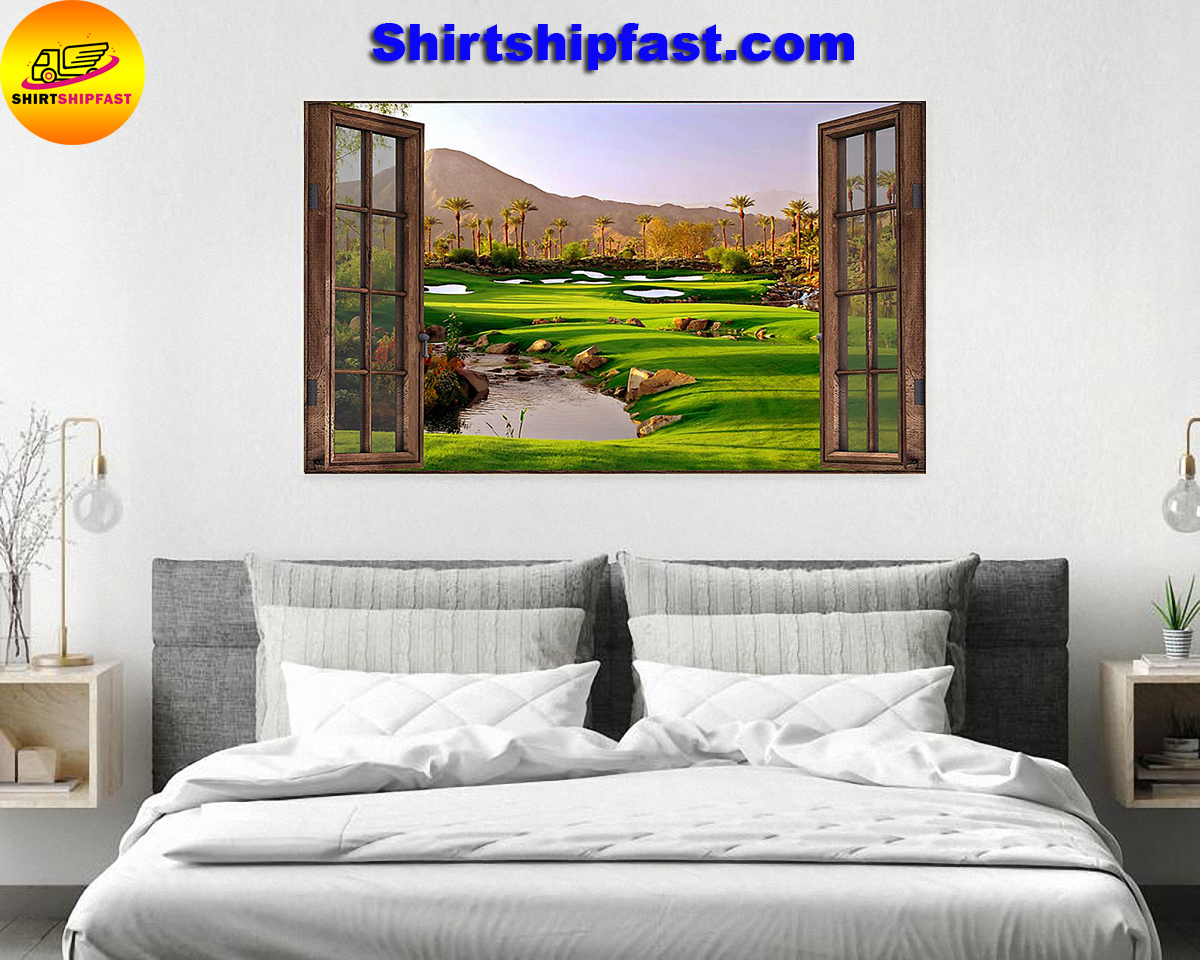 Golf window poster - Picture 1