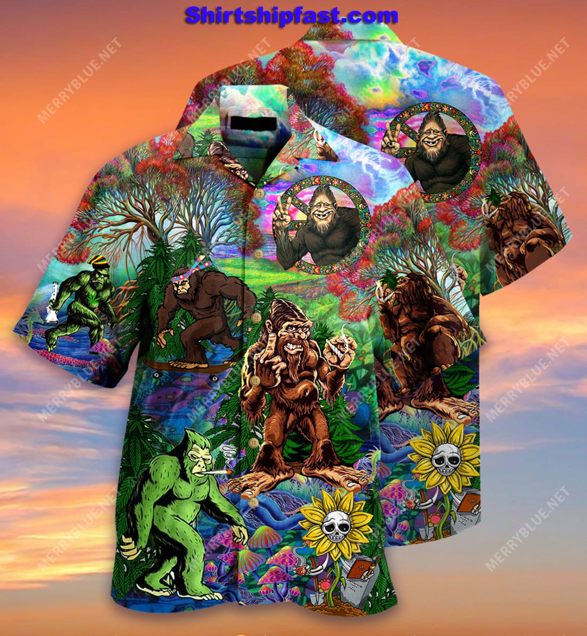 Hippie bigfoot keep it wild and free short sleeve shirt - Picture 1