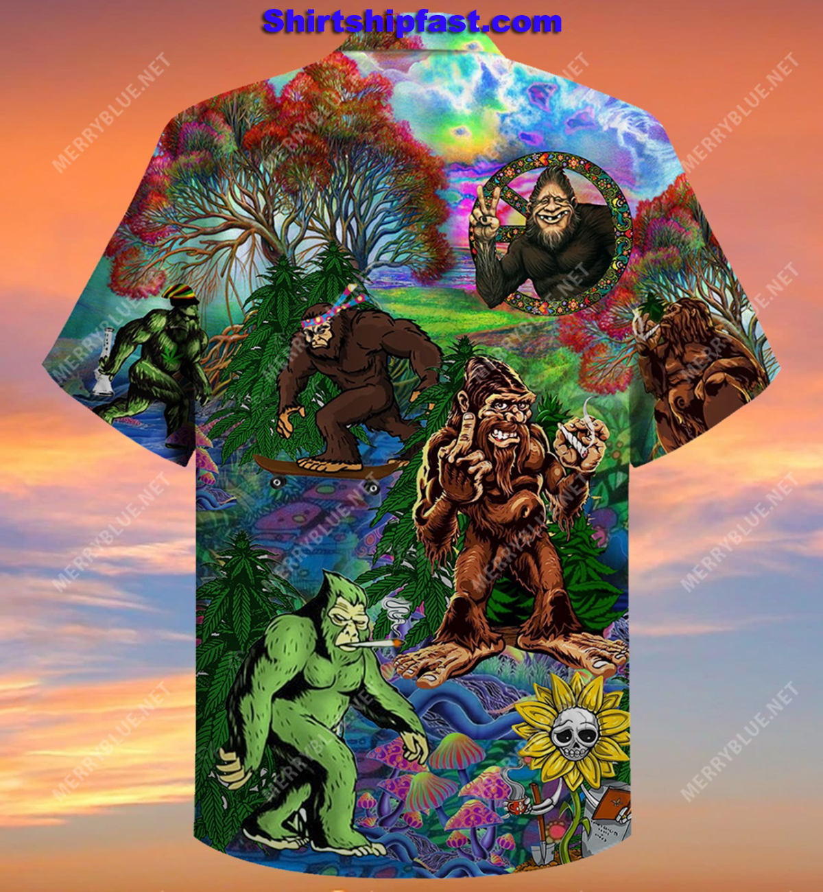 Hippie bigfoot keep it wild and free short sleeve shirt - Picture 3