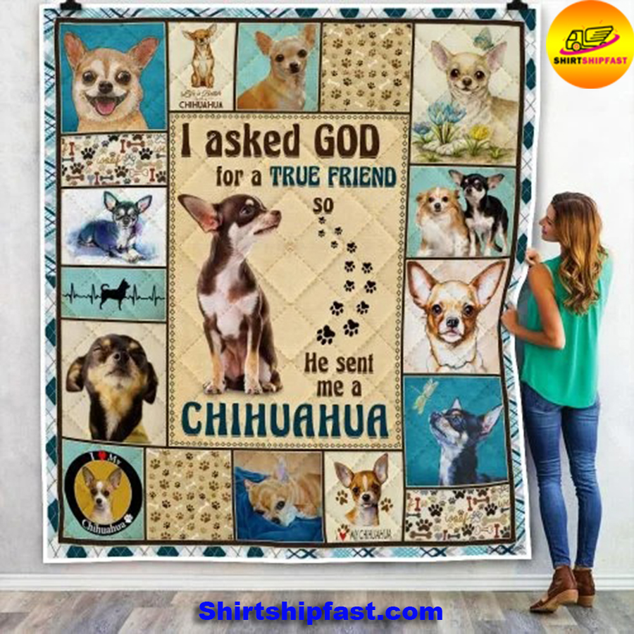 I asked god for a true friend so he sent me a Chihuahua quilt blanket - Picture 1