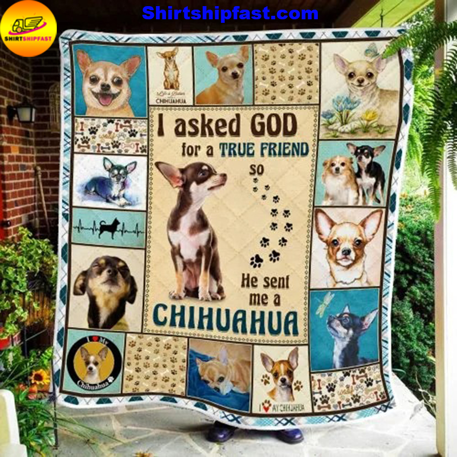 I asked god for a true friend so he sent me a Chihuahua quilt blanket - Picture 3