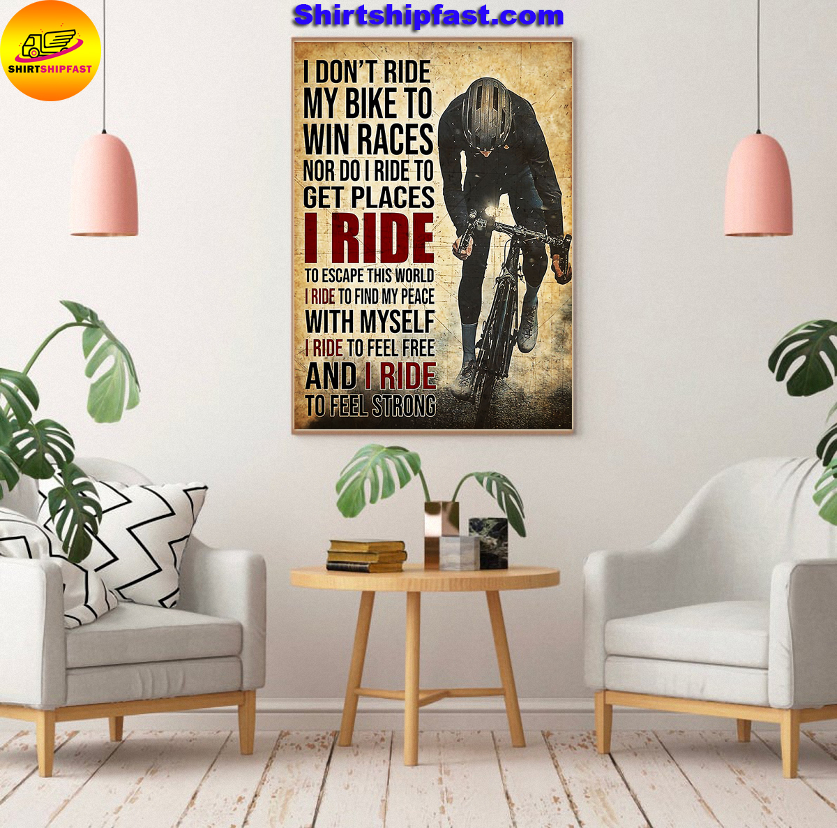 I don't ride my bike to win races Cycling poster - Picture 2
