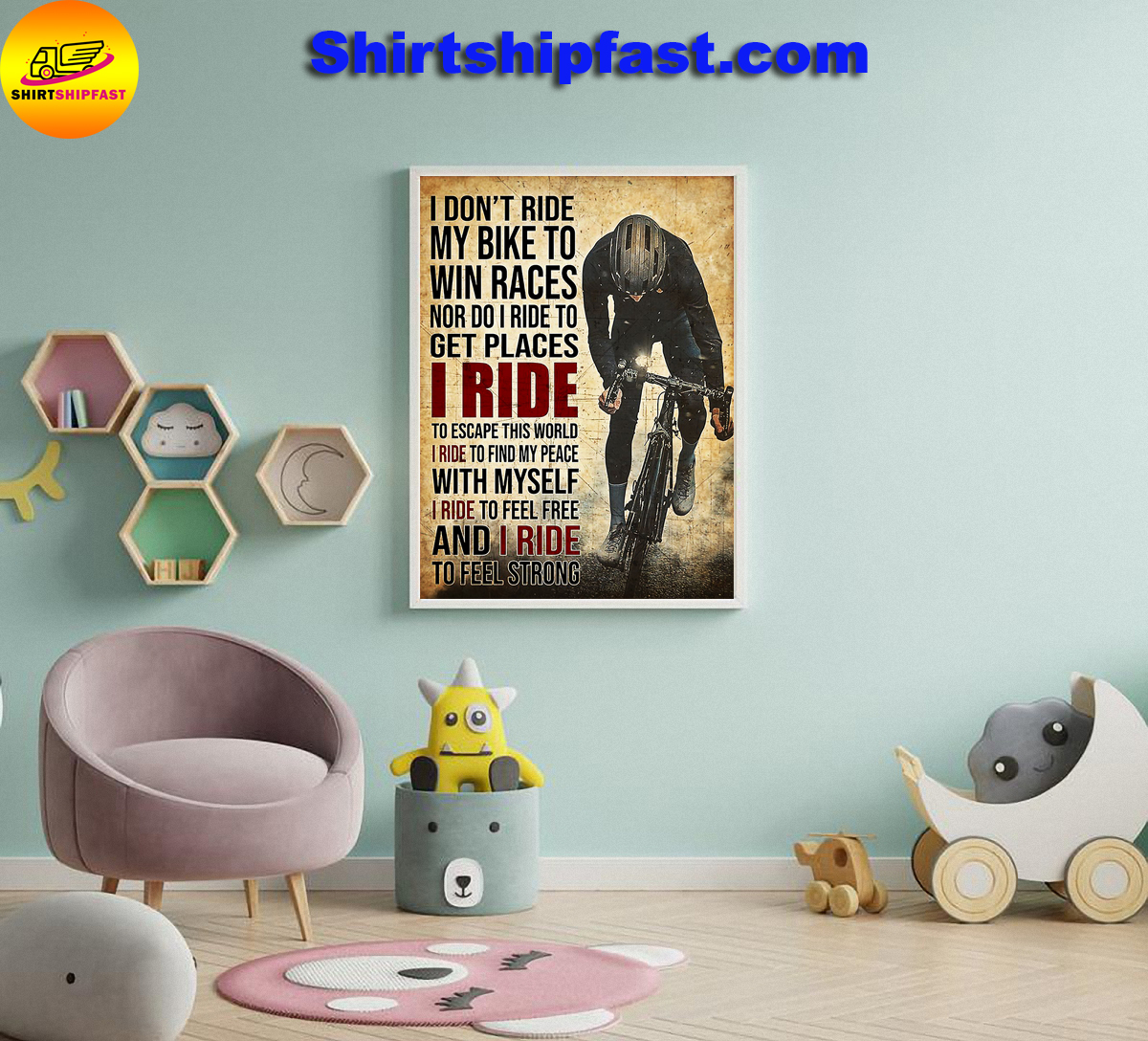 I don't ride my bike to win races Cycling poster - Picture 3