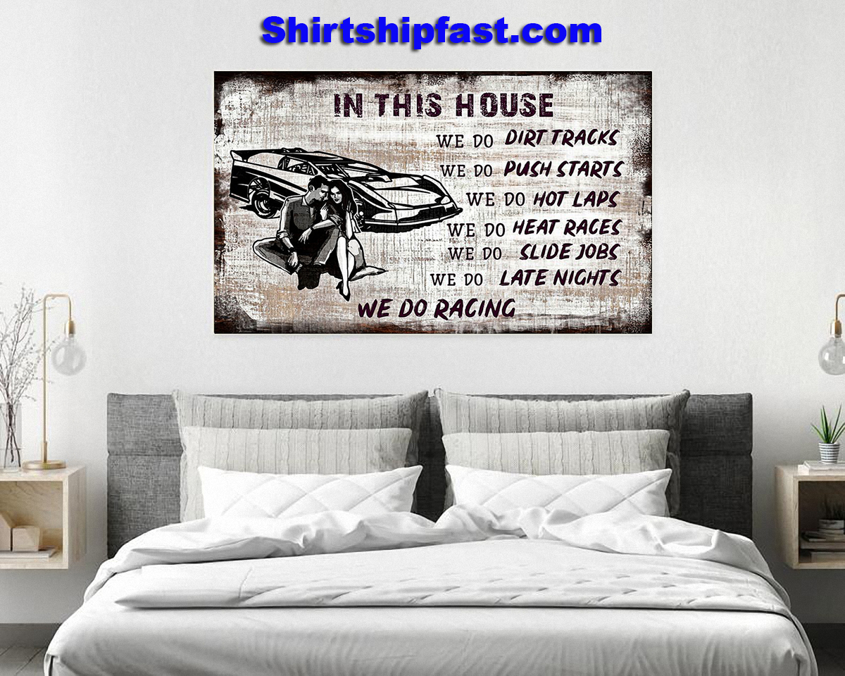 In this house we do racing poster - Picture 3