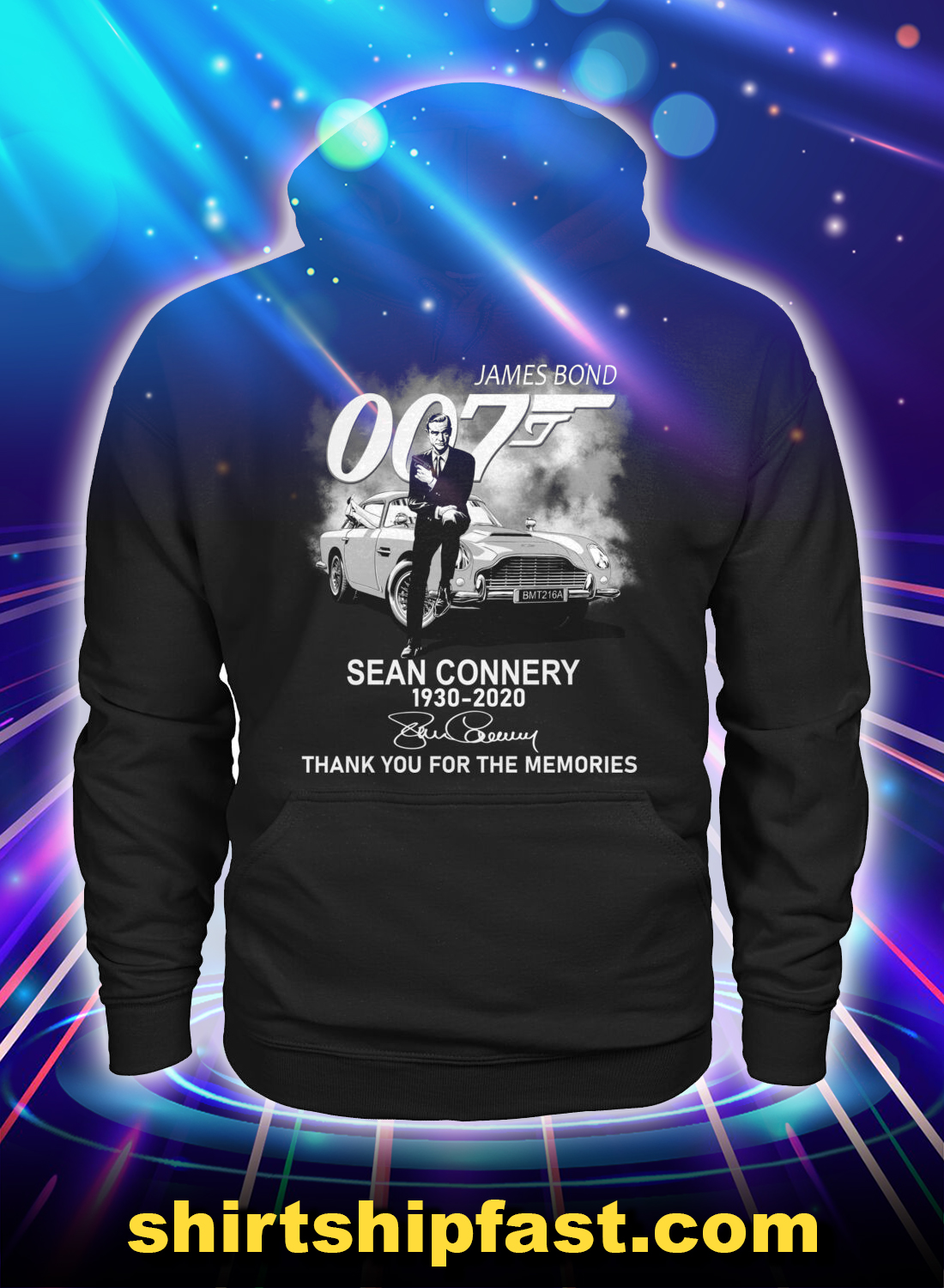 James Bond 007 sean connery thank you for the memories hoodie