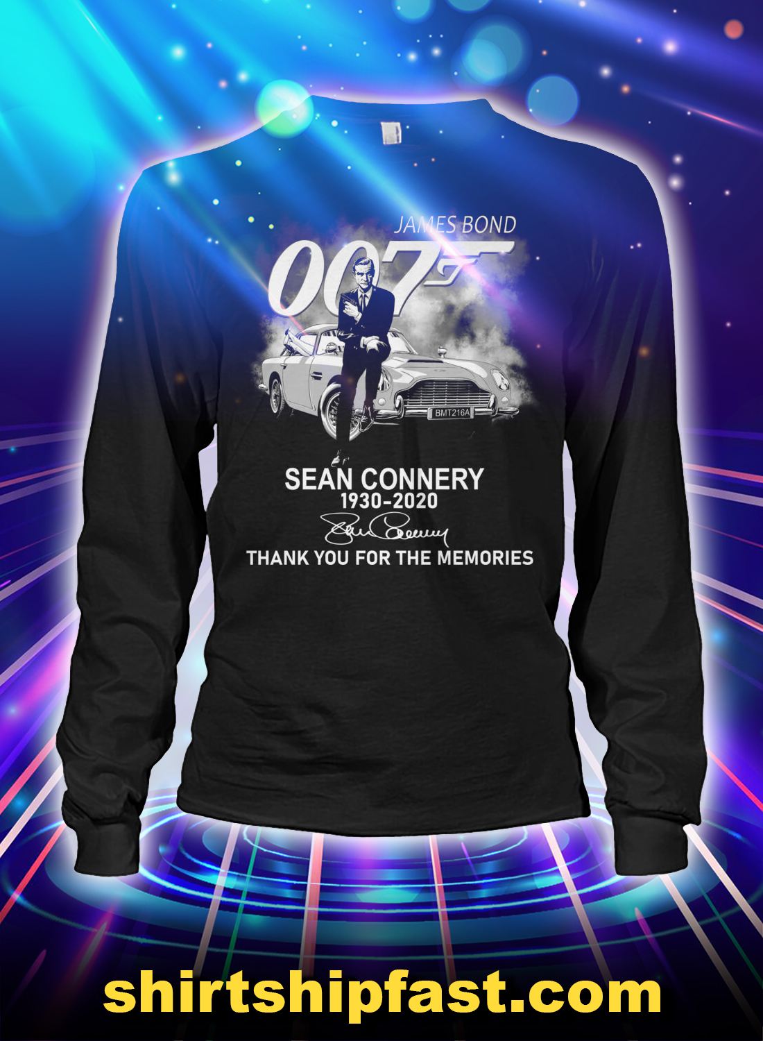 James Bond 007 sean connery thank you for the memories long sleeve tee