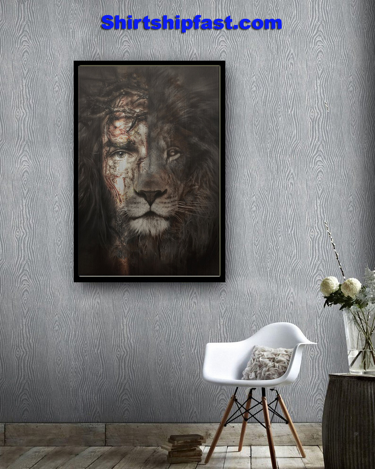 Jesus and lion the perfect combination canvas prints - Picture 2