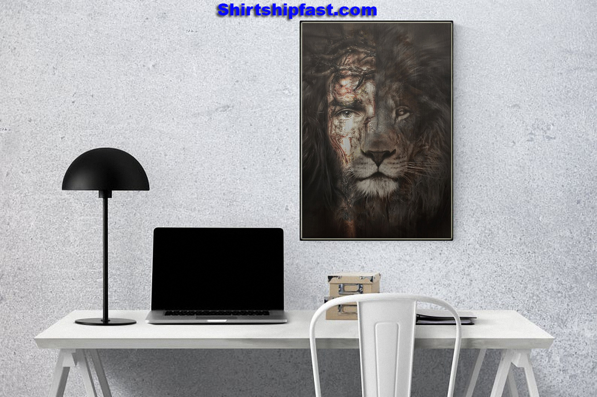 Jesus and lion the perfect combination canvas prints - Picture 3