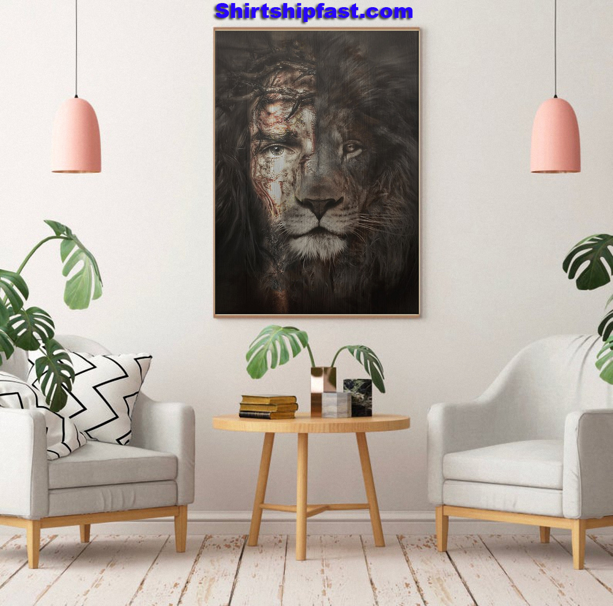 Jesus and lion the perfect combination canvas prints