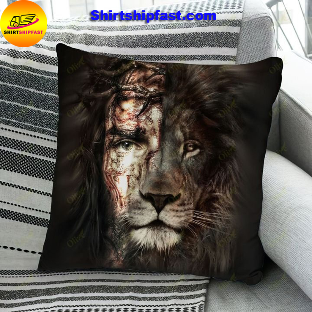Jesus and lion the perfect combination pillowcase - Picture 1
