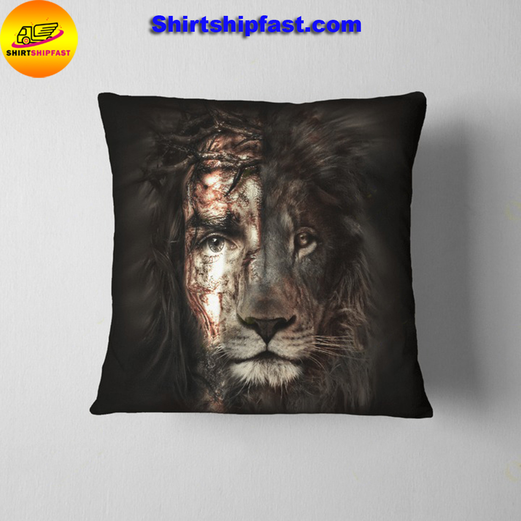 Jesus and lion the perfect combination pillowcase - Picture 3