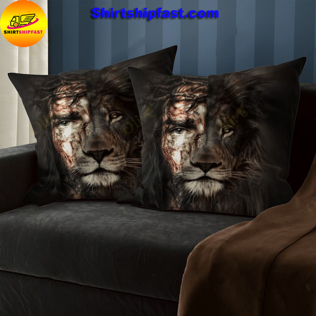 Jesus and lion the perfect combination pillowcase