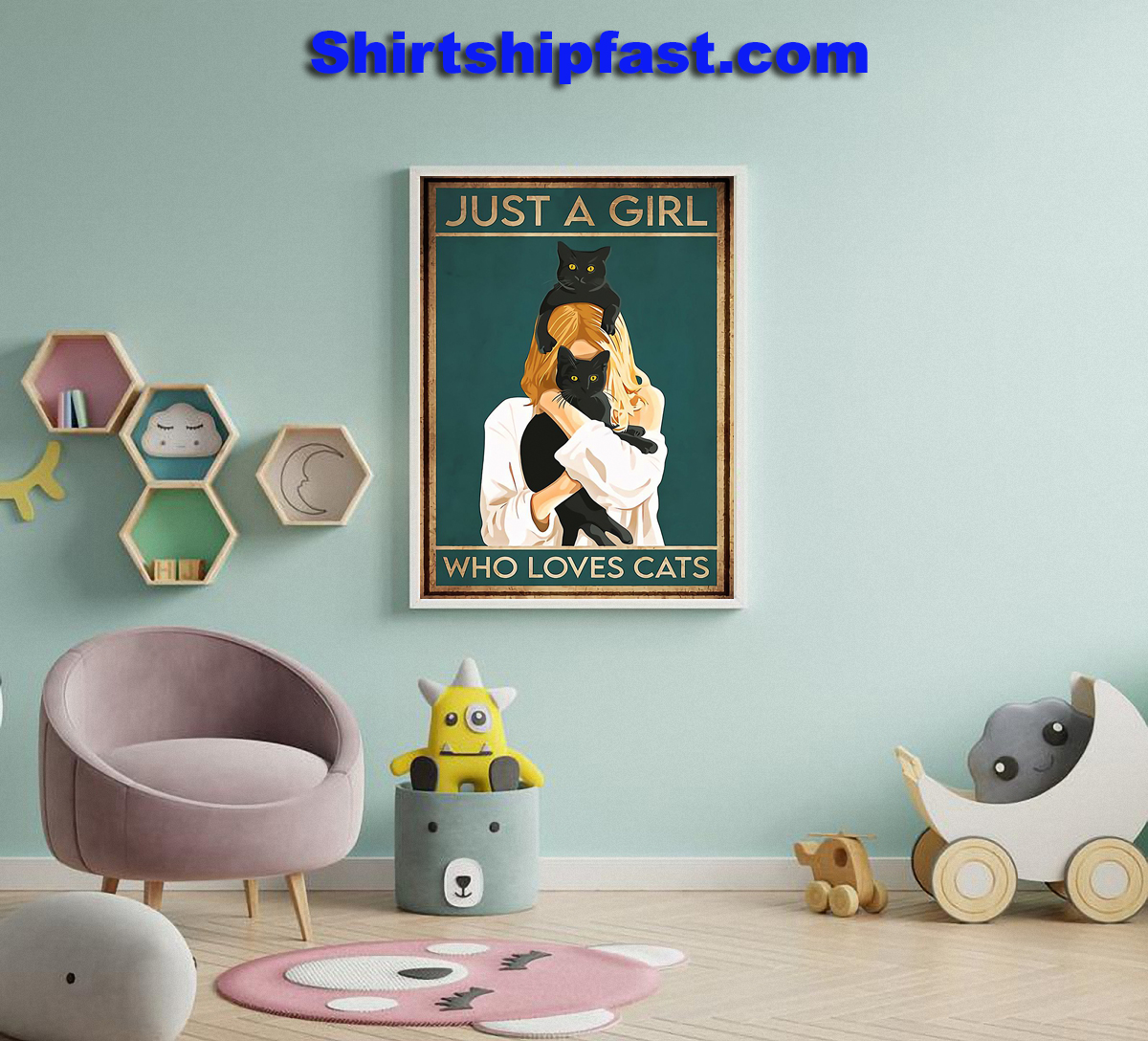 Just a girl who loves cats poster - Picture 1