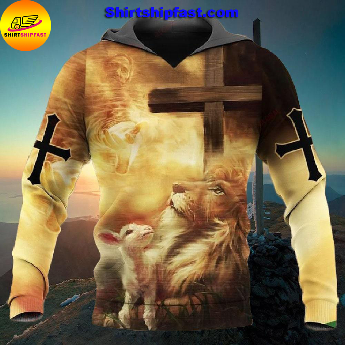 Let your faith be bigger than your fear all over printed hoodie and t-shirt