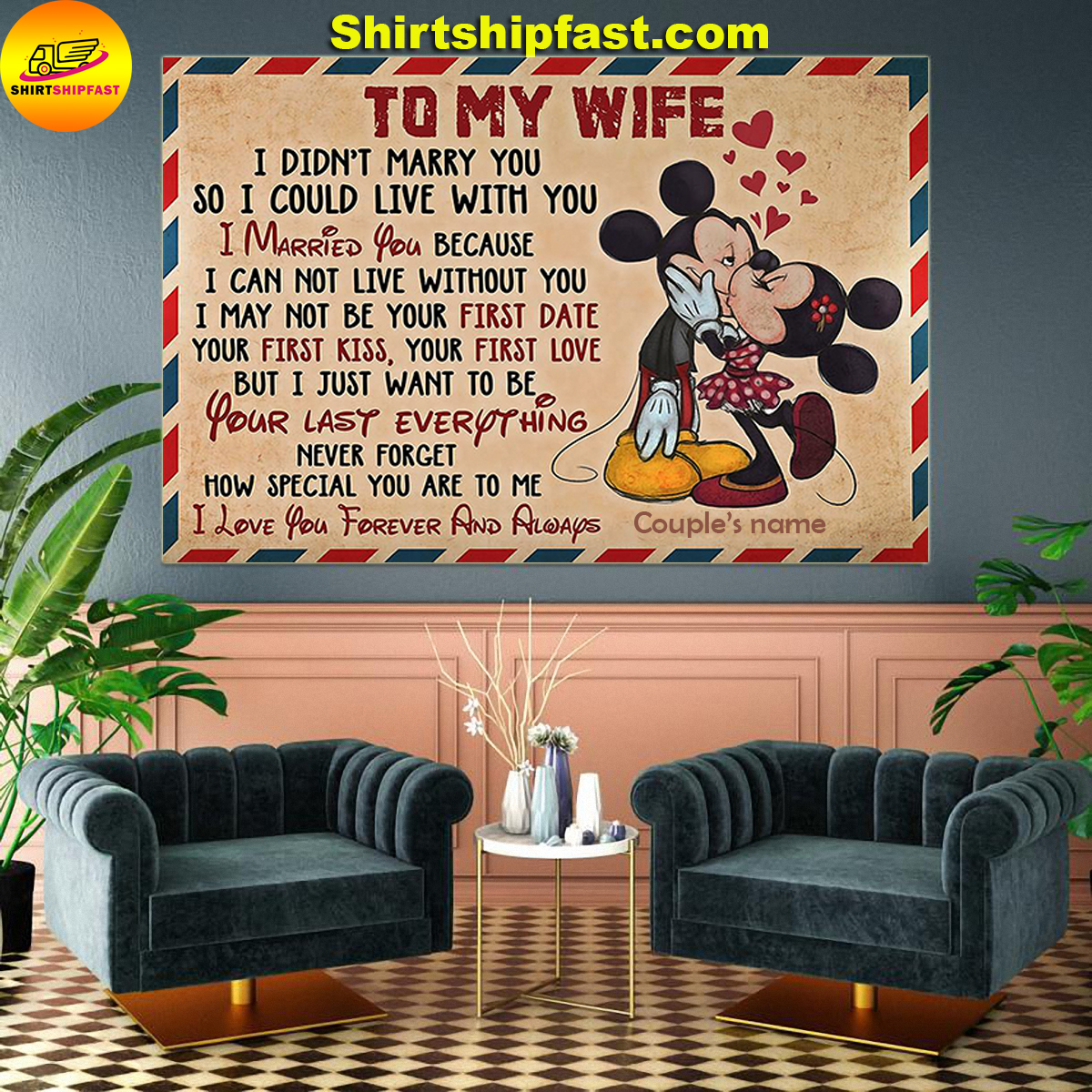 Mickey and Minnie To my wife how special you are to me personalized poster - Picture 3