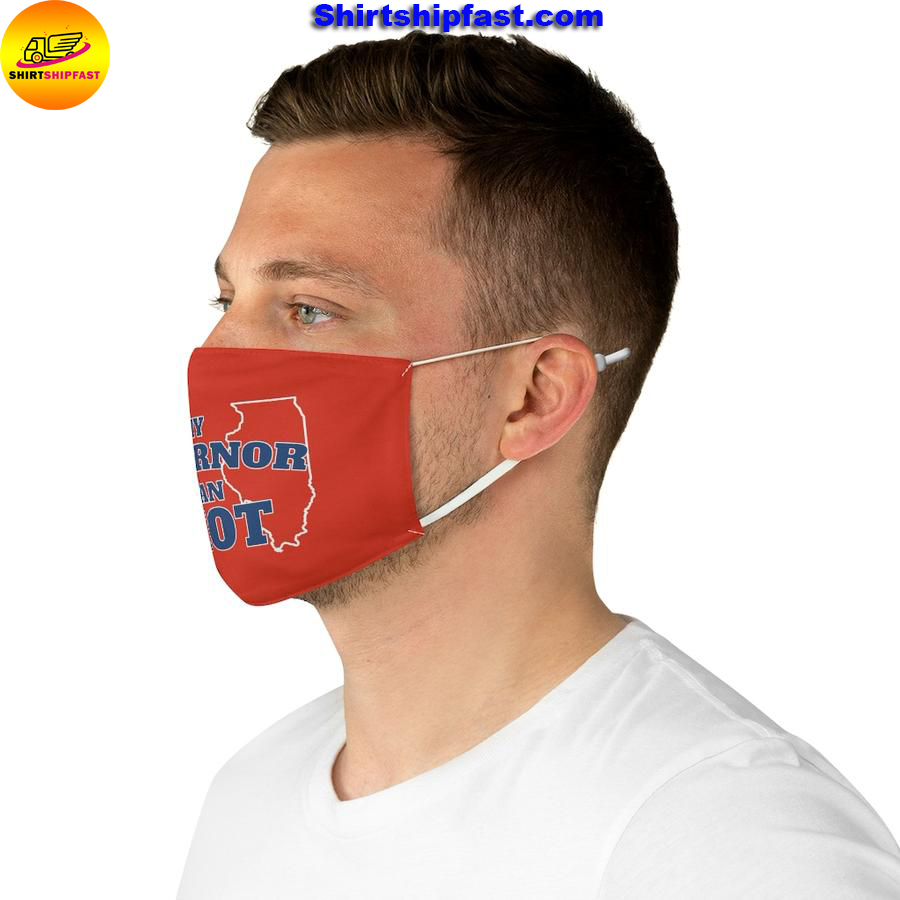 My governor is an idiot Illinois face mask - Picture 3