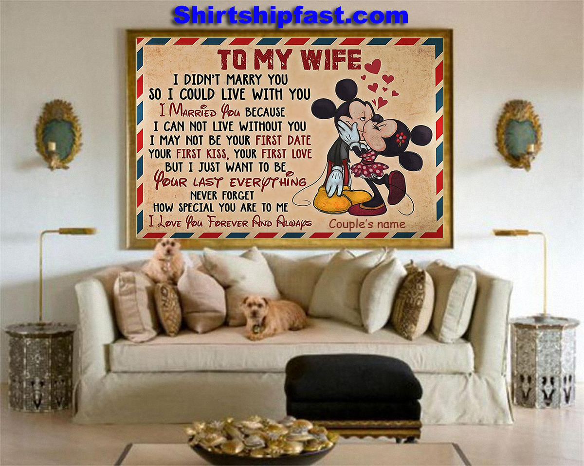Personalized Mickey and Minnie To my wife how special you are to me canvas - Picture 3