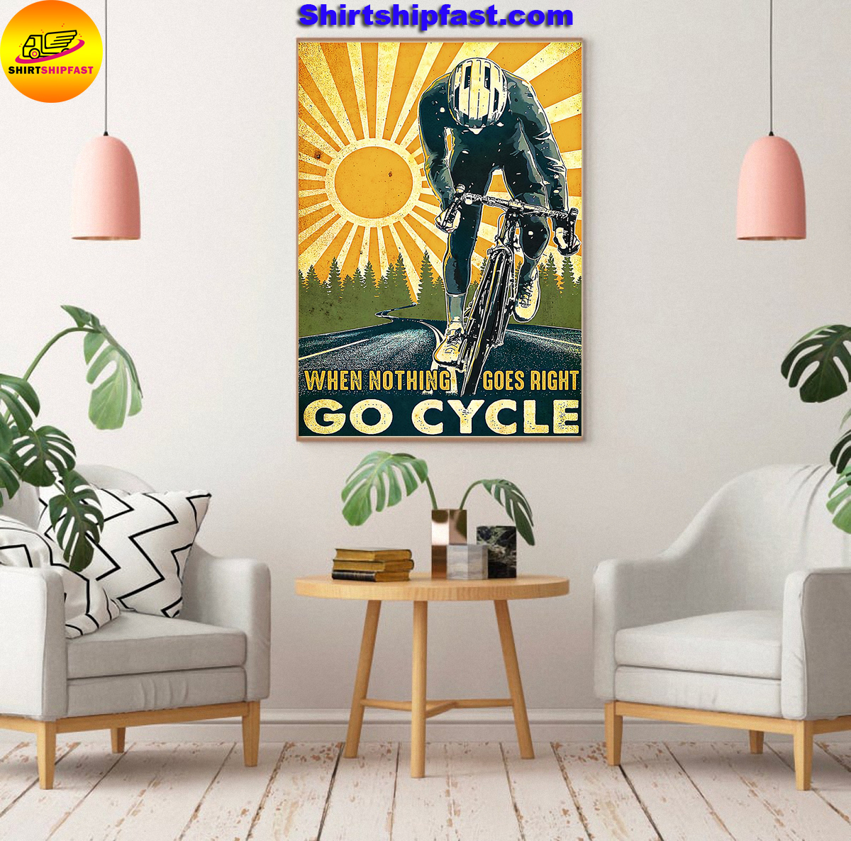 Poster Cycling when nothing goes right go cycle - Picture 3
