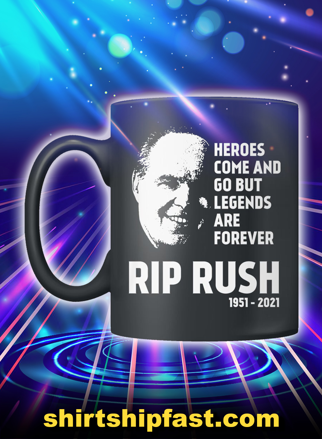 RIP Rush heroes come and go but legends are forever mug - Picture 1