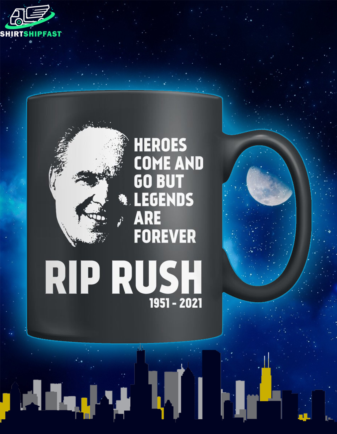 RIP Rush heroes come and go but legends are forever mug - Picture 2