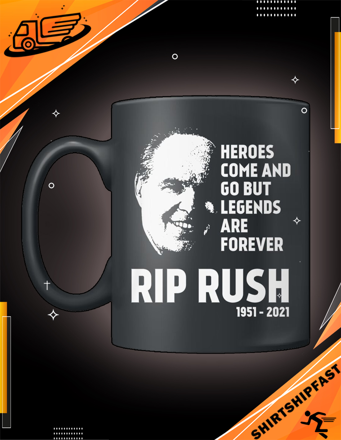 RIP Rush heroes come and go but legends are forever mug - Picture 3