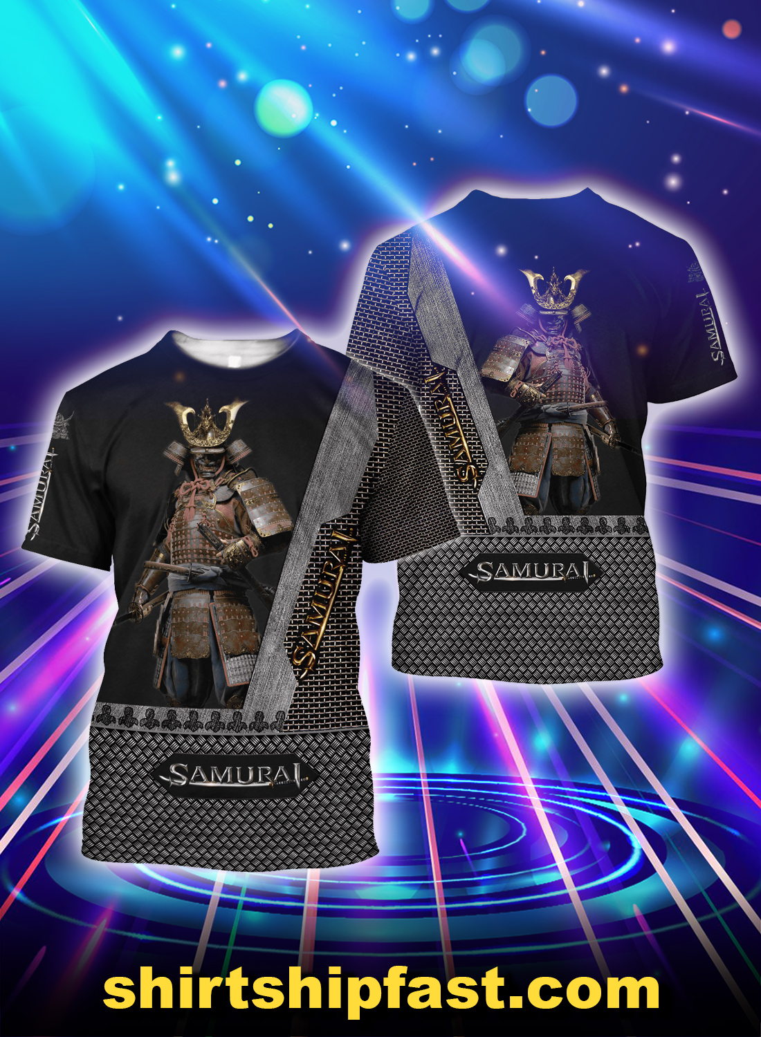 Samurai all over printed t-shirt