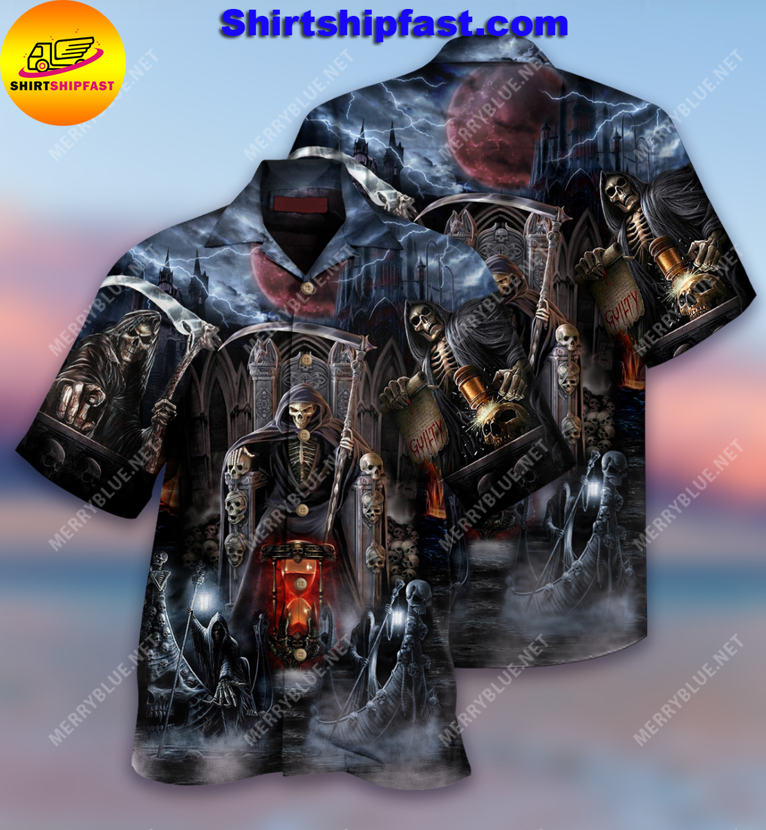 Skull and death will have his day short sleeve shirt